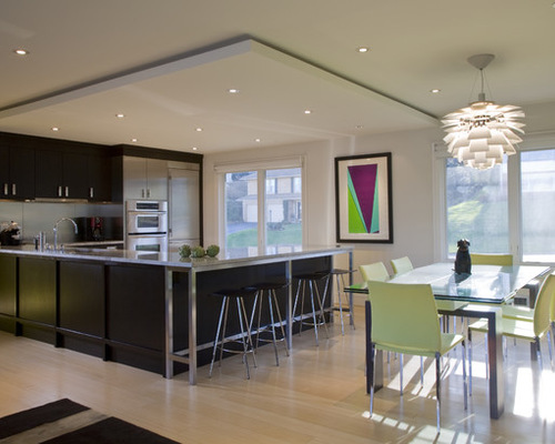 interior design london Kitchen with suspended ceiling
