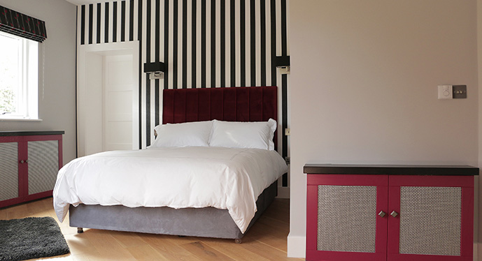 Mackintosh Inspired Interior Design for bedroom