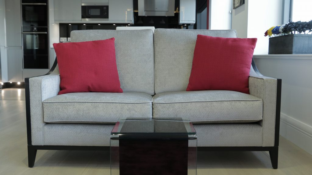Cut to size grey sofa