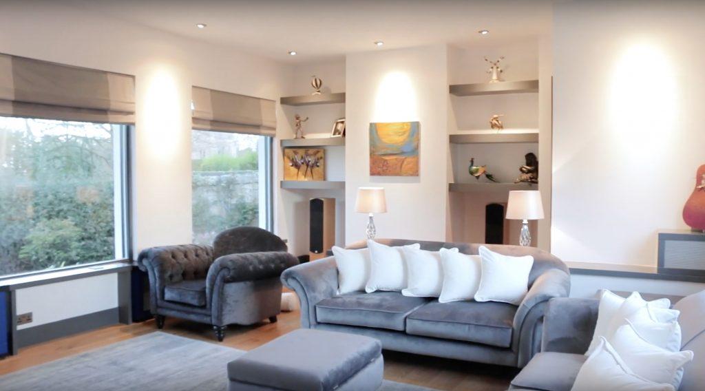 Minimalist Interior Design with grey sofas