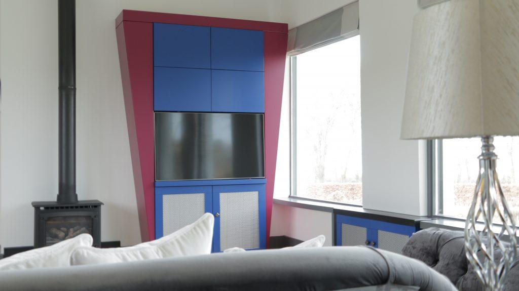 Minimalistic interior design with art deco influences