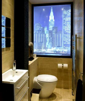 Bathroom Interior Design with skyline roller blinds