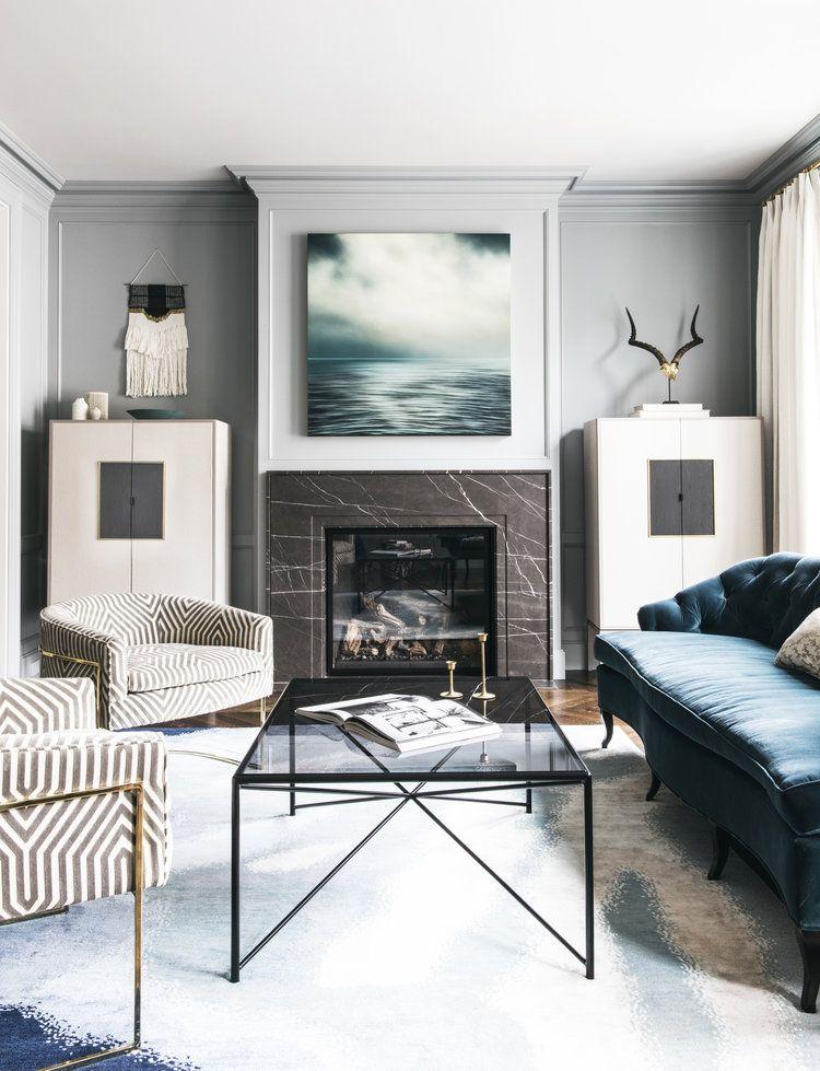 Symmetry in Interior Design- white lounge