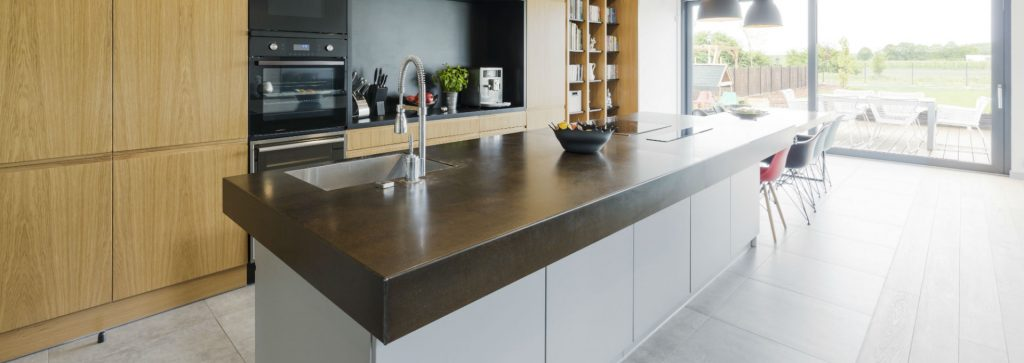 Concrete Worktop in Interior Design Example