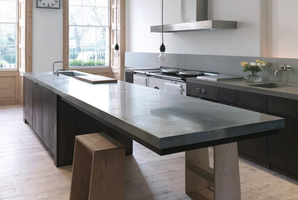 marylebone concrete worktop in interior design example