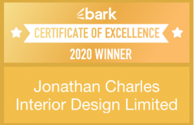 Certificate of Excellence- Brak- Jonathan Charles Interior Design-gold